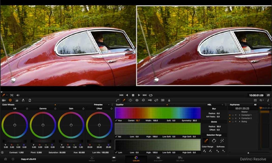 Colorimétrie voiture